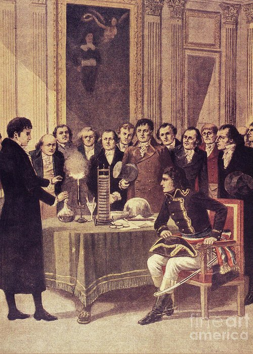 Science Greeting Card featuring the photograph Alessandro Volta, Italian Physicist by Science Source