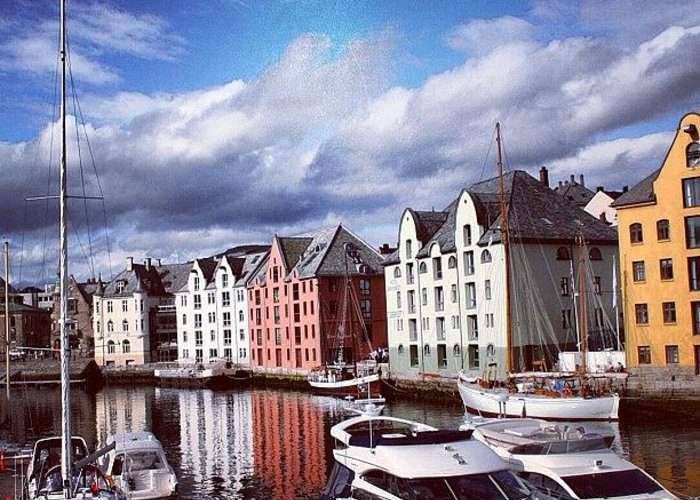 Europe Greeting Card featuring the photograph Alesund by Luisa Azzolini