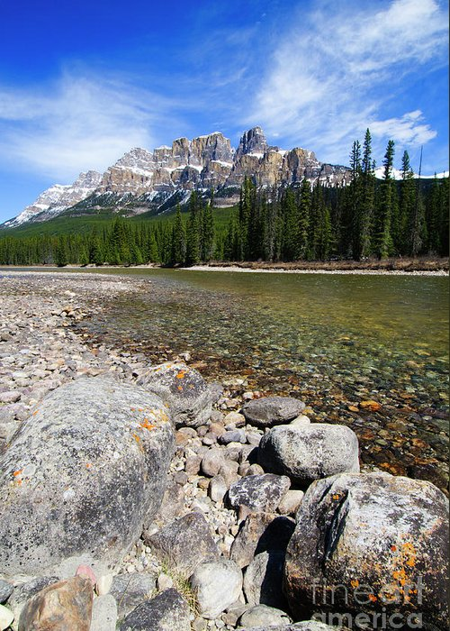 Alberta Greeting Card featuring the photograph Castle Mountain by Ginevre Smith