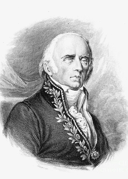 1824 Greeting Card featuring the photograph Chevalier De Lamarck by Granger