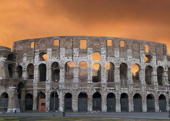 Worth Greeting Card featuring the photograph Colosseum. Rome by Bernard Jaubert