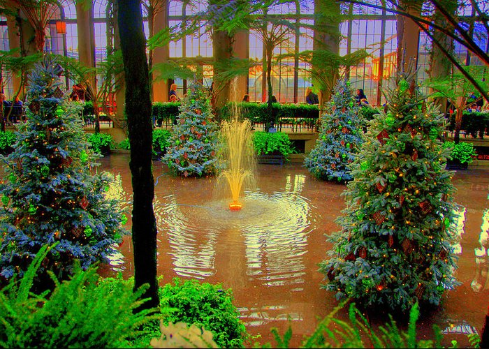 Lake The Way Of The Dream View Greeting Card featuring the digital art Dupont Gardens by Aron Chervin