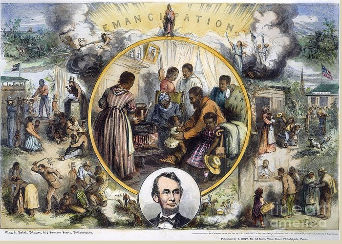 1863 Greeting Card featuring the photograph Emancipation Proclamation by Granger