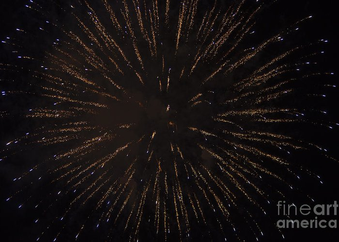 4th Of July Greeting Card featuring the photograph Fireworks by Juan Silva