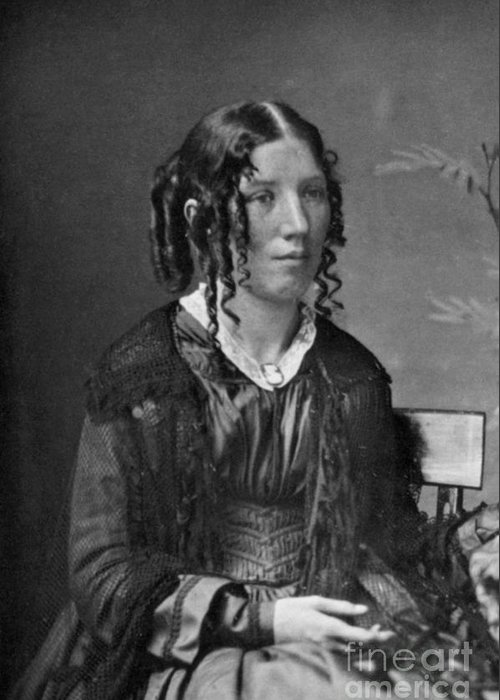 History Greeting Card featuring the photograph Harriet Beecher Stowe, American by Photo Researchers