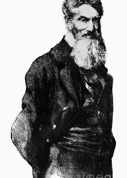 1859 Greeting Card featuring the photograph John Brown (1800-1859) by Granger