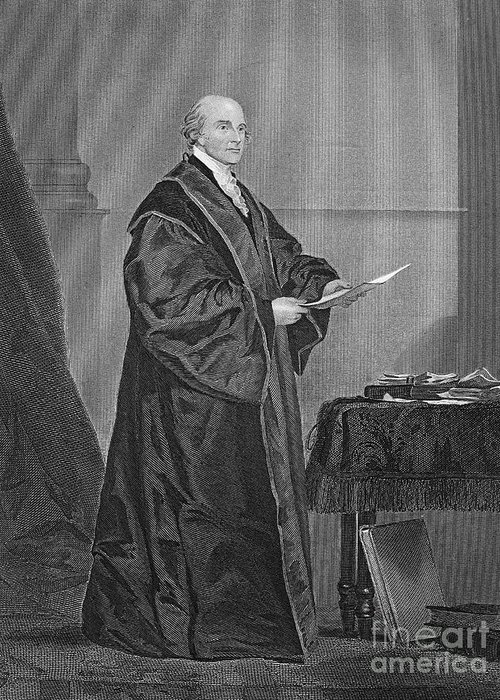 19th Century Greeting Card featuring the photograph John Jay (1745-1829) by Granger