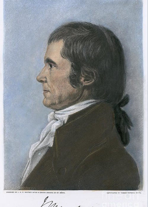 1808 Greeting Card featuring the photograph John Marshall (1755-1835) by Granger