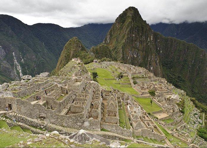 Machu Picchu Greeting Card featuring the photograph Machu Picchu, Peru by Matthew Oldfield