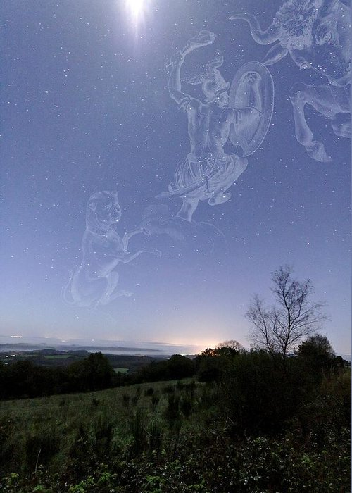 Star Greeting Card featuring the photograph Night Sky by Laurent Laveder