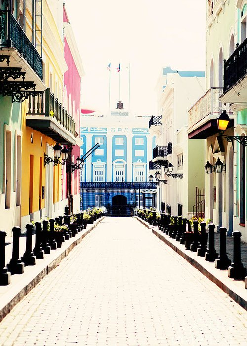 San Juan Greeting Card featuring the photograph Old San Juan Puerto Rico by Kim Fearheiley