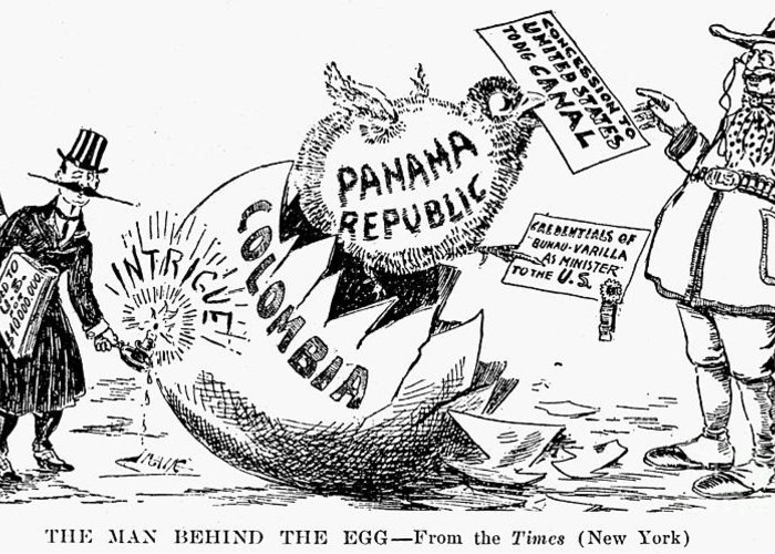 Panama Canal Cartoon, 1903 Greeting Card for Sale by Granger