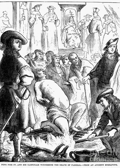 16th Century Greeting Card featuring the photograph Persecution Of Waldenses by Granger
