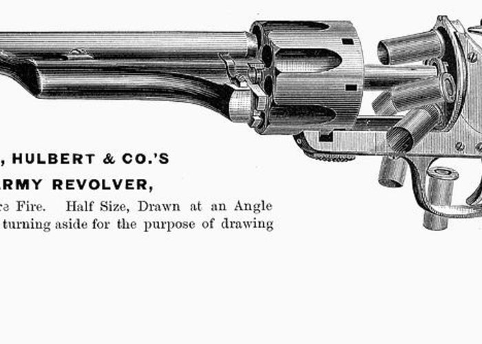 1880s Greeting Card featuring the photograph Revolver, 19th Century by Granger