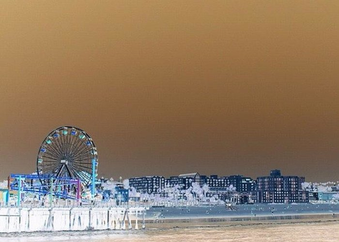 Beautiful Greeting Card featuring the photograph Santa Monica by Luisa Azzolini
