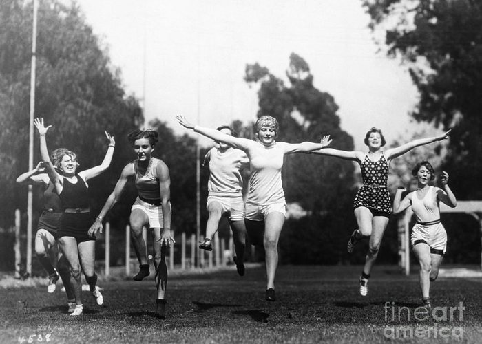 -sports- Greeting Card featuring the photograph Silent Film Still: Sports by Granger