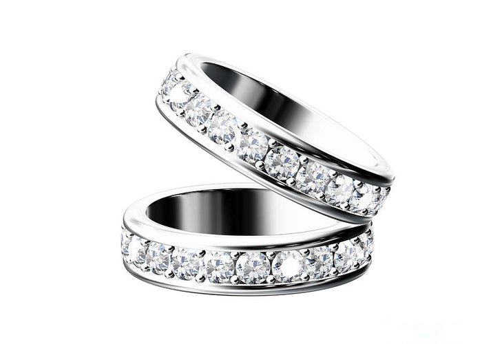 Accessories Greeting Card featuring the jewelry The Beauty Wedding Ring by Rattanapon Muanpimthong