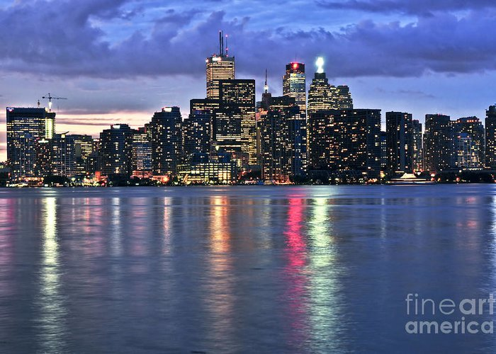 Toronto Greeting Card featuring the photograph Toronto Skyline by Elena Elisseeva