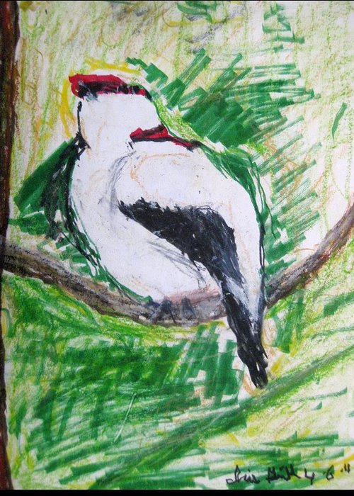 Fine Art Greeting Card featuring the drawing Untitled by Iris Gill