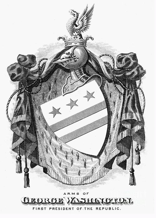 Coat Of Arms Of George Washington Greeting Cards