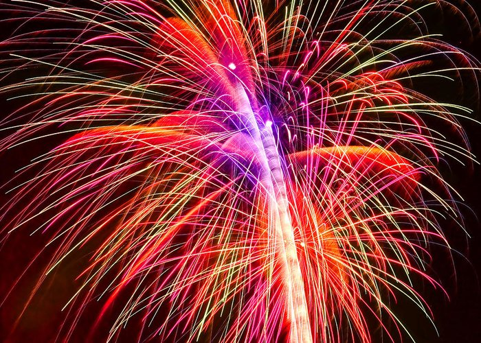 United Greeting Card featuring the photograph 4th Of July - Independence Day Fireworks by Gordon Dean II
