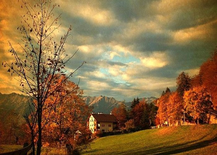 Beautiful Greeting Card featuring the photograph Autumn In South Tyrol by Luisa Azzolini