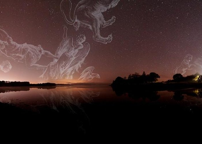 Corona Borealis Greeting Card featuring the photograph Constellations In A Night Sky by Laurent Laveder