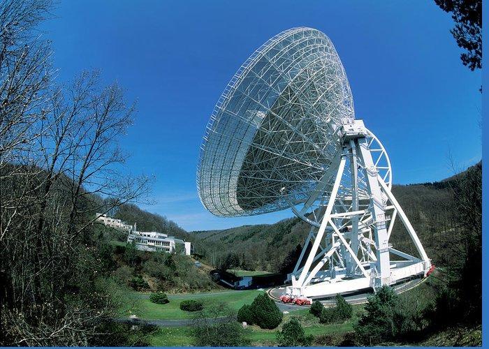 Astronomy Greeting Card featuring the photograph Effelsberg Radio Telescope by Detlev Van Ravenswaay