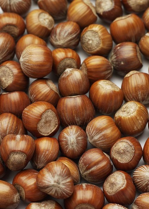 Close Up Greeting Card featuring the photograph Hazelnuts by Jon Stokes