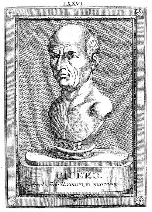 1st Century B.c Greeting Card featuring the photograph Marcus Tullius Cicero by Granger