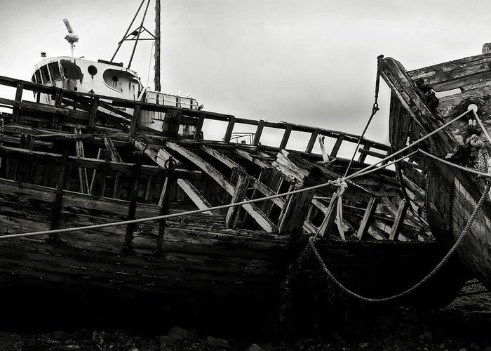 Old Greeting Card featuring the photograph Old Abandoned Ships by RicardMN Photography