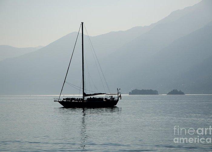 Sailing Boat Greeting Card featuring the photograph Sailing Boat by Mats Silvan