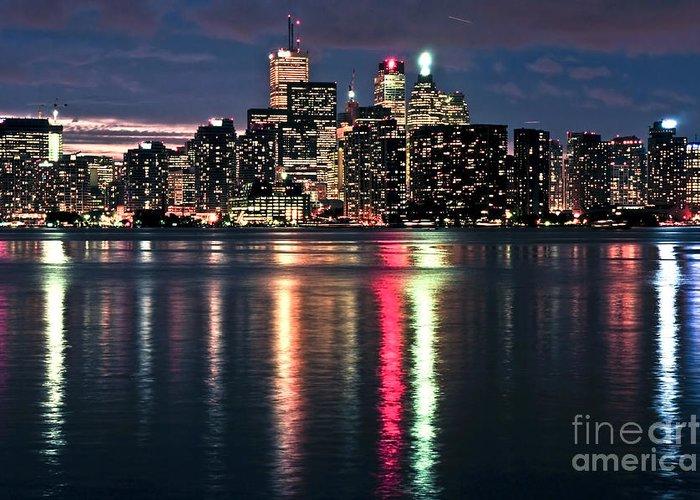 Toronto Greeting Card featuring the photograph Toronto Skyline by Elena Elisseeva