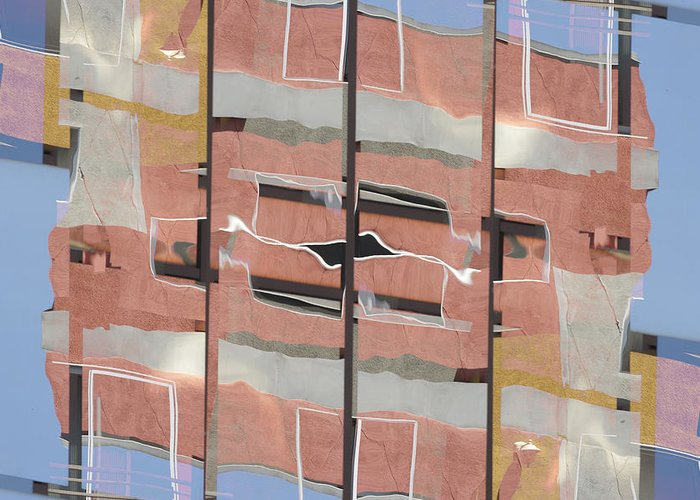 Urban Greeting Card featuring the photograph Urban Abstract San Diego by Carol Leigh