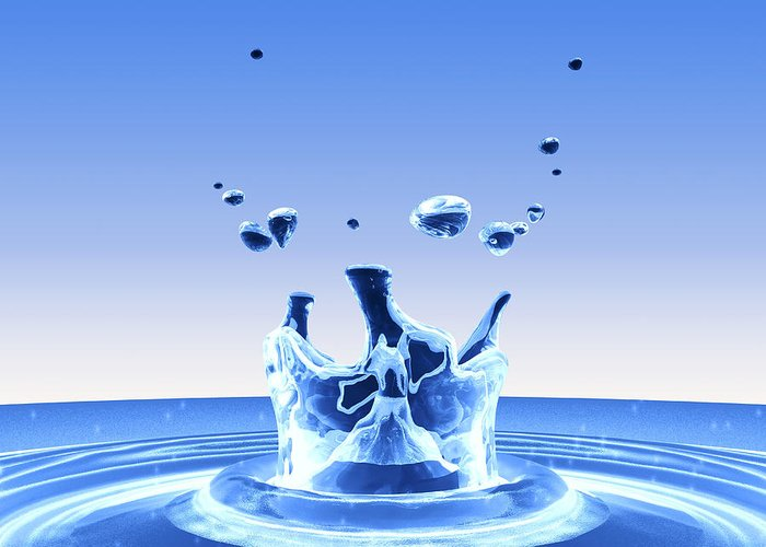 Drop Greeting Card featuring the photograph Water Drop Impact by Pasieka