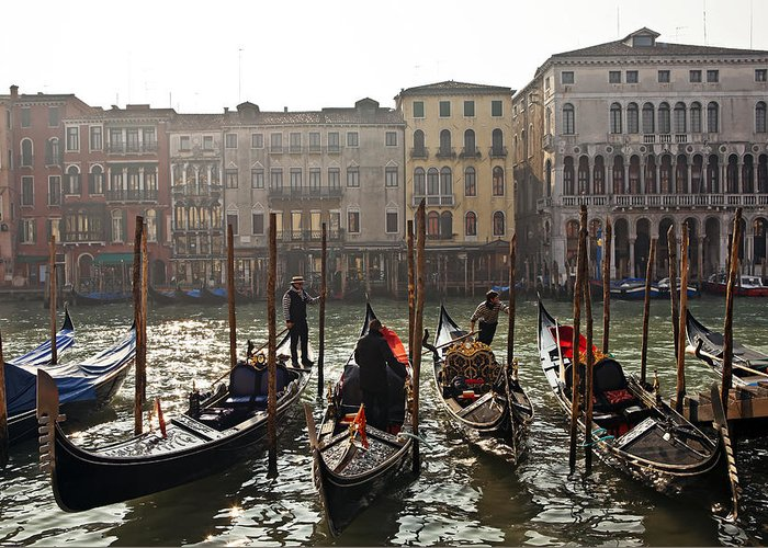 Grand Canal Greeting Card featuring the photograph Venezia by Joana Kruse
