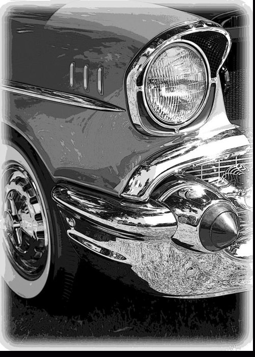 Hot Rod Greeting Card featuring the photograph 57 Chevy by Steve McKinzie