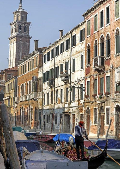 Santa Maria Dei Carmini Greeting Card featuring the photograph Venezia by Joana Kruse