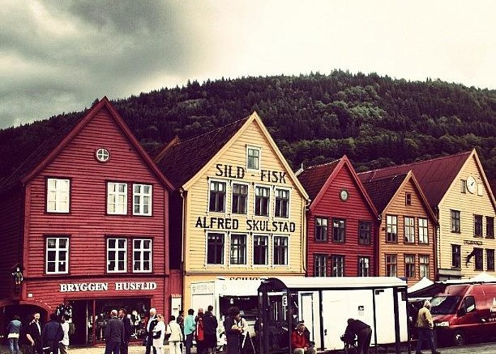 Beautiful Greeting Card featuring the photograph Bergen by Luisa Azzolini