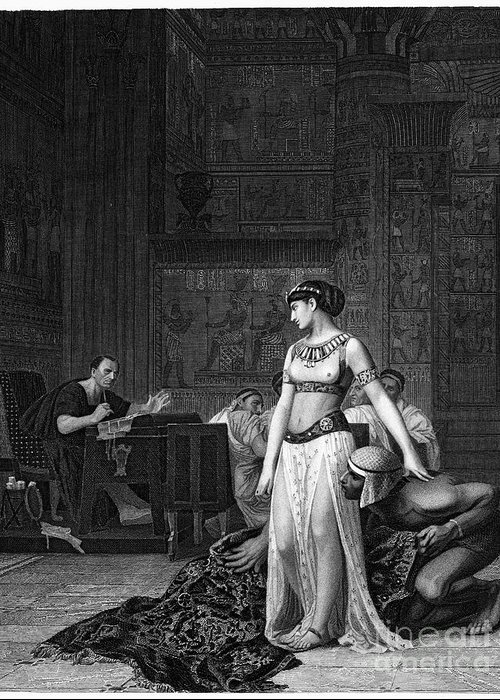48 B.c Greeting Card featuring the photograph Cleopatra Vii (69-30 B.c.) by Granger