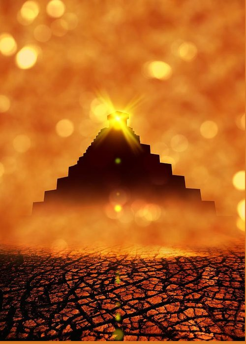 Pyramid Of The Sun Greeting Cards