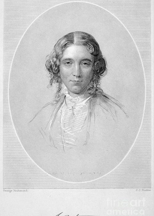 19th Century Greeting Card featuring the photograph Harriet Beecher Stowe by Granger