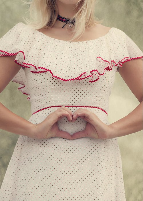 Female Greeting Card featuring the photograph Heart by Joana Kruse