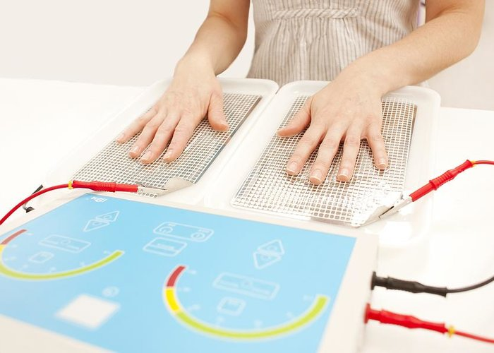 Indoors Greeting Card featuring the photograph Iontophoresis For Excess Sweating by