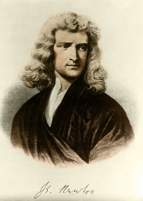 Science Greeting Card featuring the photograph Isaac Newton, English Polymath by Science Source