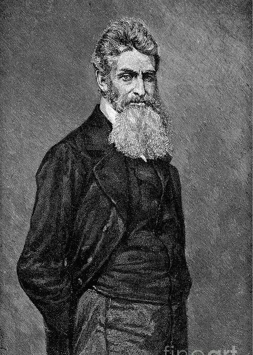 19th Century Greeting Card featuring the photograph John Brown (1800-1859) by Granger