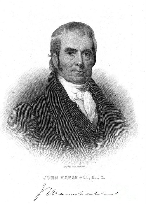 1874 Greeting Card featuring the photograph John Marshall (1755-1835) by Granger