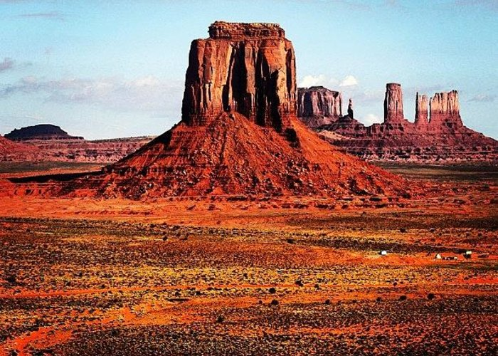 Monumentvalley Greeting Card featuring the photograph Monument Valley by Luisa Azzolini