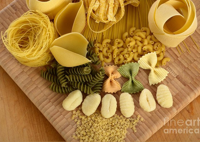Assorted Greeting Card featuring the photograph Pasta by Photo Researchers, Inc.