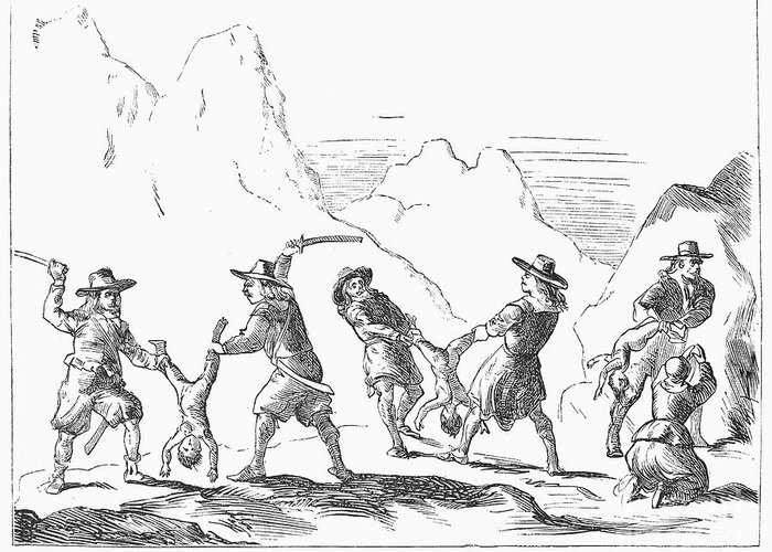 1655 Greeting Card featuring the photograph Persecution Of Waldenses by Granger